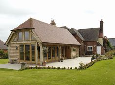 Outbuildings - Border Oak - oak framed houses, oak framed garages and structures. Oak Framed Extensions, House Extensions, Kitchen Extensions, Border Oak, Cottage Extension, Oak Framed Buildings, Oak Frame House, Timber Frame Homes, Dream House Exterior