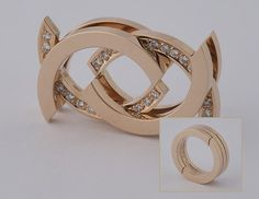 Bobby White, Red Gold and Diamond Motion Ring Bobby White, Red Gold, Gemstone Jewelry, Jewelery, Commercial, Designers, Jewelry Design, Bangles, Wedding Rings