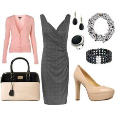 Pink, Black, and Gray Work Outfit - Noticed this while checking out another pic... Thanks kajora