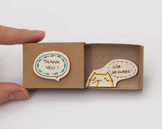 """Thank you Card """"You're so sweet"""" Matchbox / Gretting Card / Gift box / Message box"""