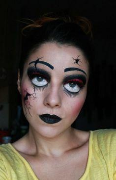 coole ideen halloween schminken damen attraktiv