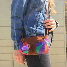 """Nicaragua cross body bag This is super cute for spring and summer! In new condition, worn twice. Straps can be adjustable, embroidery is in great shape! Real leather & inside is in perfect condish. 7"""" zipper, bottom is 6"""" long, 2"""" wide. Nicaragua Bags Mini Bags"""