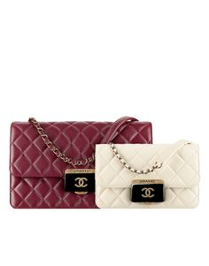 Flap bag, sheepskin   resin-burgundy - CHANEL Latest Handbags, Chanel  Official Website e2b074d23d