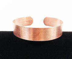 Rose Gold Minimalist Copper Cuff Round Vintage Unisex Copper