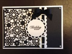 Handmade black/white Birthday card