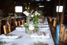 Crystal Bud Vases for a rustic barn setting Martinborough New Zealand wedding Floral Style, Floral Design, Wedding Reception Flowers, Rustic Barn, Corporate Design, Bud Vases, Table Settings, Romantic, Crystals