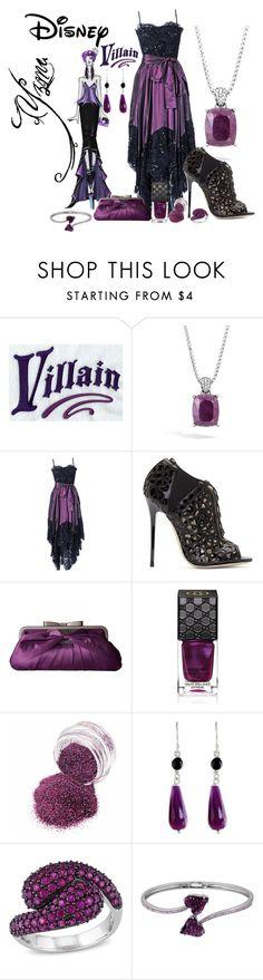 """Disney Villain: Yzma"" by handmadendesigns ❤ liked on Polyvore featuring Disney, Villain, John Hardy, Yves Saint Laurent, Jimmy Choo, Jessica McClintock, Gucci, NOVICA and Ice"