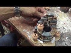 TUTORIAL - Come creare una Fontana per Presepe - YouTube Nativity Crafts, Christmas Nativity, Fairy Tree Houses, Slab Pottery, Air Dry Clay, Paper Clay, Diy Tutorial, Dollhouse Miniatures, Waterfall Fountain