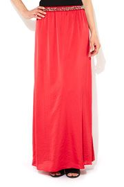Pink Satin Maxi Skirt #WallisFashion