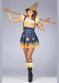 Womens Cute Sultry Scarecrow Costume [842719/22/31-55/845005-55 ...