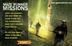 http://www.gamesinterest.com/online-games/MAZE-RUNNER-MISSION  Maze Runner Mission is a maze game. You have selected for a very important mission. you have to map the maze and try to get out of the maze before the time gets over. Play Maze Runner Mission  game on gamesinterest.Use arrow keys to navigate on the map. Try to avoid grievers that want to kill you and run fast to complete your mission before sunset