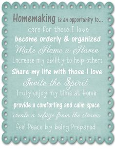 Homemaking is....