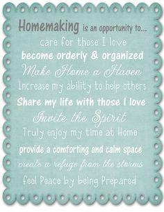 homemaking...
