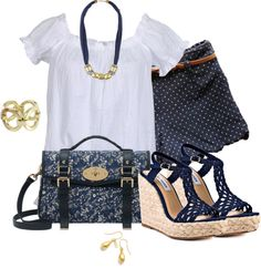 """Polka Dot"" by corenna-obrien ❤ liked on Polyvore"