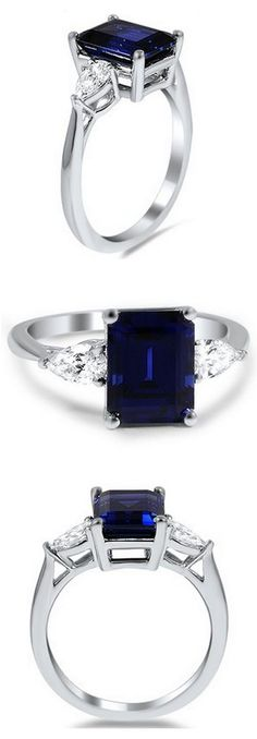 http://rubies.work/0804-multi-gemstone-earrings/ Sapphire & Diamond Ring //