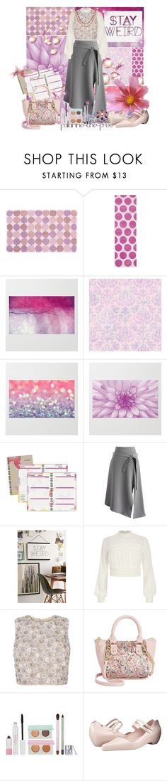 """""""Stay Weird"""" by falarine-the-free ❤ liked on Polyvore featuring Surya, Brewster Home Fashions, AT-A-GLANCE, Chicwish, Urban Outfitters, River Island, Betsey Johnson, Mally, Melissa and Swarovski"""