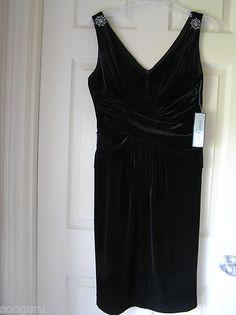 Anne Klein New York Black Velvet Dress Black Velvet Dress, Anne Klein, Calvin Klein, York, Shopping, Dresses, Women, Fashion, Vestidos