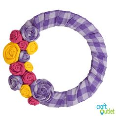With Spring nearly at our doorstep, we couldn't help but be inspired by the wonderful hues and florals of the spring season for this DIY. CraftOutlet.com will show you step-by-step how to craft three sizes of ribbon rosettes as well as how to affix them to a work wreath form… Wreath Crafts, Diy Wreath, Wreath Making, Mesh Wreath Tutorial, Bow Tutorial, Flower Tutorial, Ribbon Rosettes, Ribbon Flower, Ribbon Hair