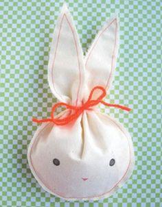 Fabric Bunny Sac . (Paas)traktatie