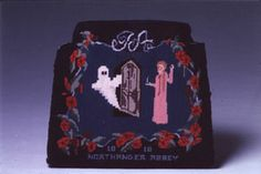 Jane in Stitches - 'Northanger Abbey' Pillow designed by Isabelle English and conceived and created by Gene Gill