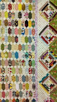 Tokyo Quilt Festival 2014.  Detail of elongated hexagons