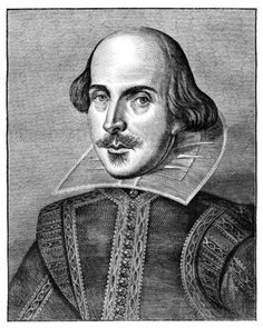 William Shakespeare, English poet and playwright.
