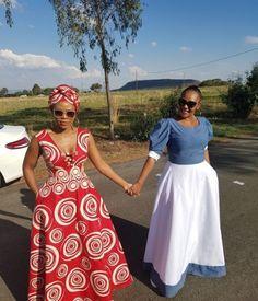 New Shweshwe seshoeshoe productions 2018 - Reny styles Long African Dresses, Latest African Fashion Dresses, African Print Dresses, African Wear, African Attire, African American Fashion, African Print Fashion, Africa Fashion, South African Traditional Dresses