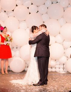 Amazing backdrop - Surprise Carnival Wedding: Lisa + Evan - Part 1 by Birds of a Feather Photo - via greenweddingshoes