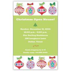 Ornament+Line+Up+Christmas+Invitations