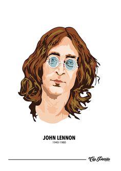 Gráfica de John Lennon por Capitan Porrito #JohnLennon #afiche #CapitanPorrito