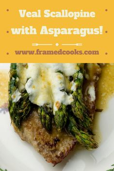 A quick and easy veal recipe featuring fresh asparagus and veal cutlets with an easy marsala wine sauce. Veal scalloping with asparagus is perfect for both dinner parties and weeknight suppers! Beef Recipes, Cooking Recipes, Healthy Recipes, Veal Scallopini, Veal Cutlet, Fresh Asparagus, Asparagus Recipe