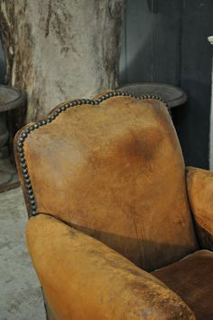pair of leather armchairs c.1940 Espace Nord Ouest www.espacenordouest.com