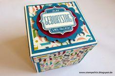 Stempelitis, Explosionsbox, Box, Schachtel, Geburtstag, Stampin up