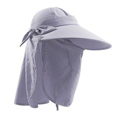 d01e38ef Women Ladies UV Protection Sun Hat, LC-dolida Wide Large Brim Sun Hats  Beach Hat UPF Sun Cap Removable Neck & Face Flap Cover Cap for Swimming  Fishing ...