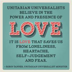 Unitarian Universalist LOVE - Poster
