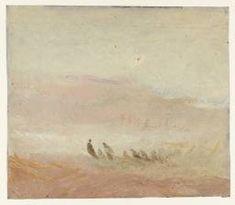 Joseph Mallord William Turner 'Figures on a Beach', c.1840–5