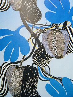 Josef Frank textile for Svenskt Tenn можно сделать пейзаж текстура+пятно Motifs Textiles, Textile Patterns, Textile Prints, Textile Art, Print Patterns, Pattern Vegetal, Collage Kunst, Illustration Arte, Illustrator