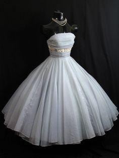 1950's Vintage Blue Chiffon Party Dress {Repin}