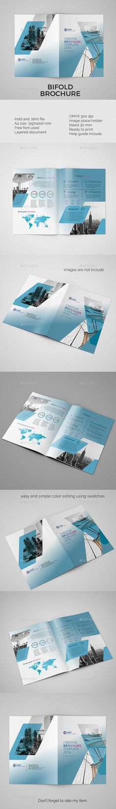 Corporate bifold brochure vol 4 - InDesign Template • Only available here ➝ http://graphicriver.net/item/corporate-bifold-brochure-vol-4/16928284?ref=pxcr