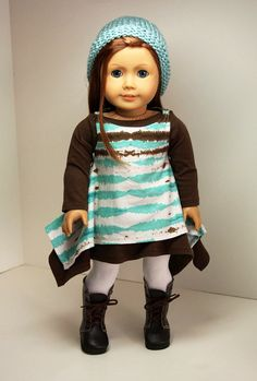 American Girl Doll Clothes2 Dresses Hat and by sewurbandesigns, $26.00