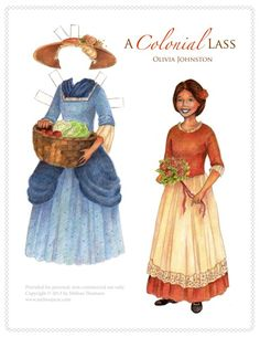 Image result for colonial paper dolls
