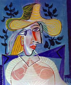"""Portrait of a Young Girl"""", Oil by Pablo Picasso (1881-1973, Spain)"""