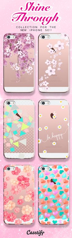 Check out our See Through collection for the new iPhone SE!! | @casetify