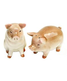 Loving this Pig Salt & Pepper Shakers by Great Finds on #zulily, $8 !!  #zulilyfinds
