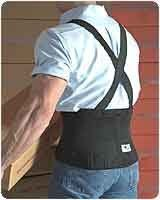 """Workforce Industrial Back Support with Clip-On Suspenders (Regular) by Scott. $33.85. PLEASE NOTE: THIS ITEM CANNOT SHIP VIA 3-DAY DELIVERY.Provides abdominal and lower back support¶Duo-adjustable tension straps provide additional compression and support¶All have enclosed flexible stays with grippers to prevent migration and rolling¶Dura-FoamTM front panels for long wear¶Sizes: (26"""" - 36""""), Regular (32"""" - 44""""), (40"""" - 55""""), (44"""" - 63""""), (custom). Measure waist/..."""
