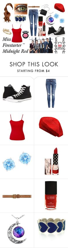 """""""Miss Firestarter ~ Midnight Red"""" by redheadmahomiemidnightredaustin ❤ liked on Polyvore featuring Converse, H&M, Swarovski, Dorothy Perkins, Chanel, Oasis, Topshop and 3.1 Phillip Lim"""