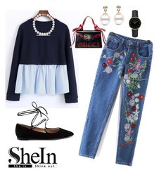 sHeIn by jhoanna-marie on Polyvore featuring polyvore moda style Gianvito Rossi Gucci ROSEFIELD fashion clothing