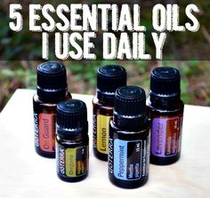 5 Essential Oils Katie Uses Daily