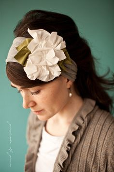Items similar to Everyday Magnolias in Heather - Garlands of Grace Something special headband 2012 on Etsy Handmade Headbands, Floral Headbands, Fascinator, Headpiece, Pearl Headband, Something Special, Bohemian Style, Orchids, Garland