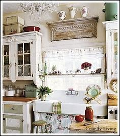 DIY:: Do it yourself Ideas to help you create a beautiful cottage kitchen.